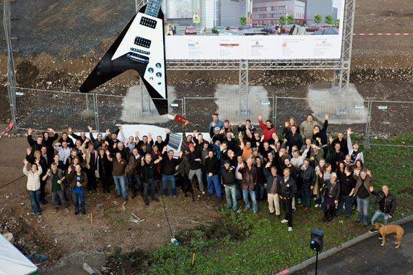 erster Spatenstich zum Music Store-Neubau in Köln-Deutz