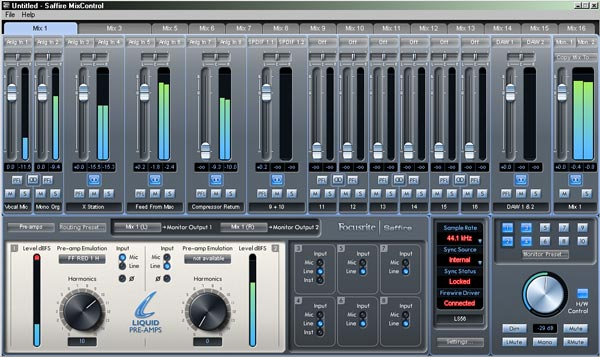 Focusrite stellt Saffire MixControl Software in Version 2.0 vor