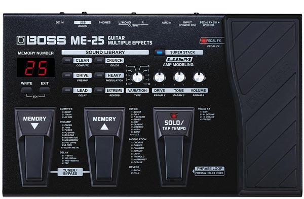 Bandneues Multieffektgerät ME-25 von Boss