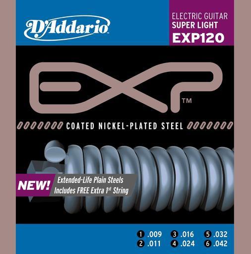 Neue beschichtete D ´Addario EXP-Saiten für E-Gitarren