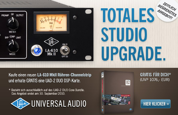 Totales Studio Upgrade von Universal Audio