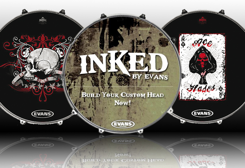 EVANS Inked Bass Drum Felle