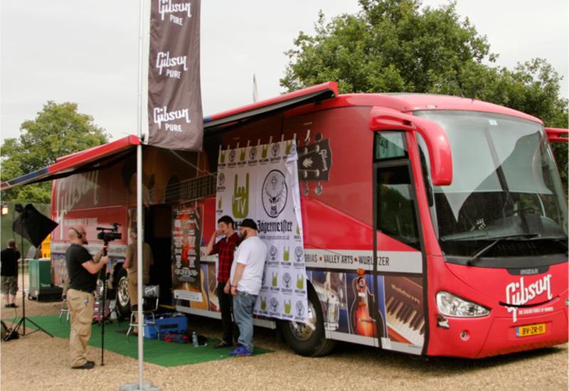 Gibson Tour Bus: zur Eröffnung bei uns!