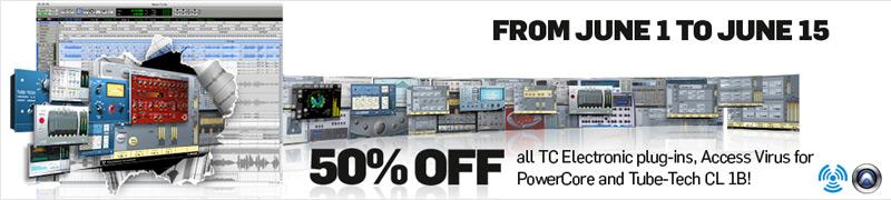 Fette Rabatte auf TC Electronic Plug-Ins