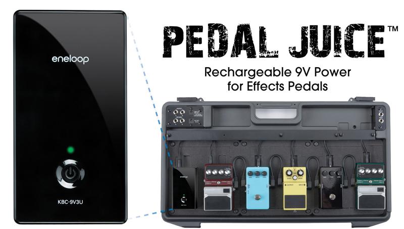 Sanyo eneloop Pedal Juice 9V Akku Stromversorgung