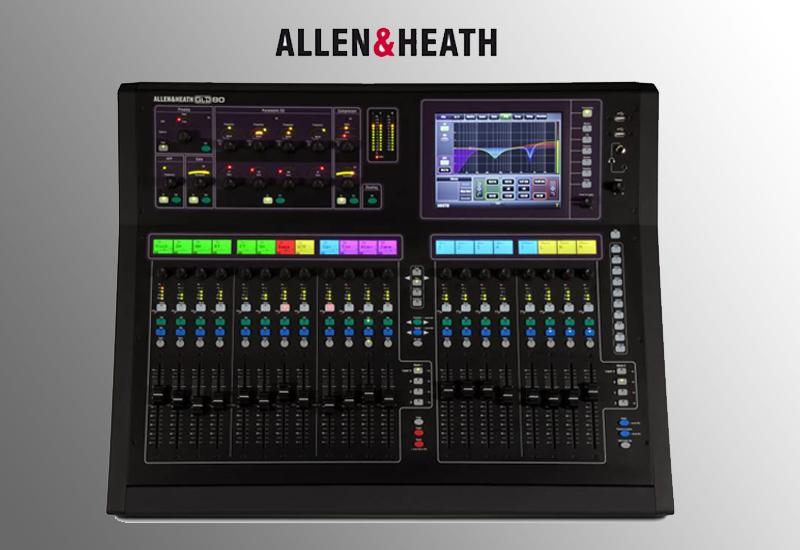 Allen&Heath GLD-80 Digital Konsole – kompakt, bezahlbar, einfache Bedienung