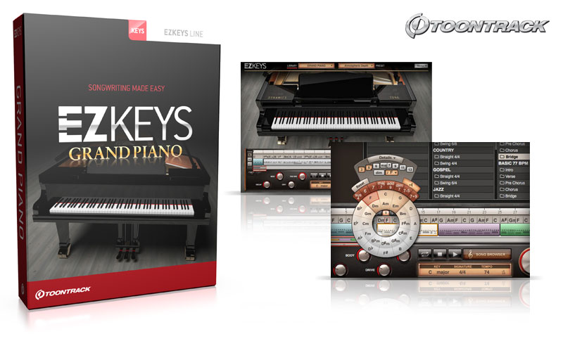 Toontrack mal trommellos: EZkeys Piano