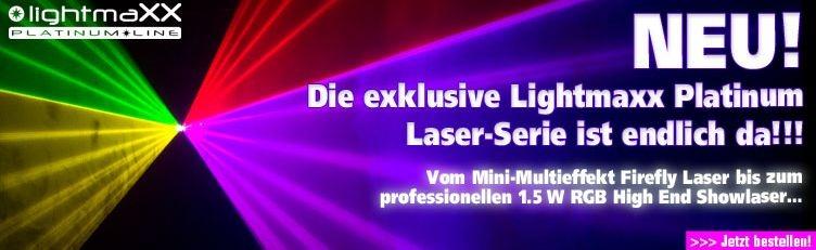 Die neue exklusive LightmaXX Platinum Laser-Serie ist endlich da!