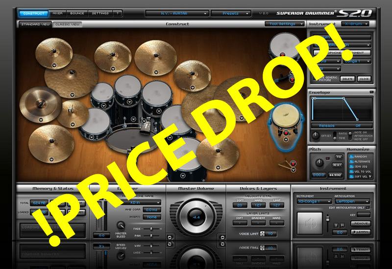 Toontrack Sommer Promo 2012: Superior Drummer Preisrutsch!
