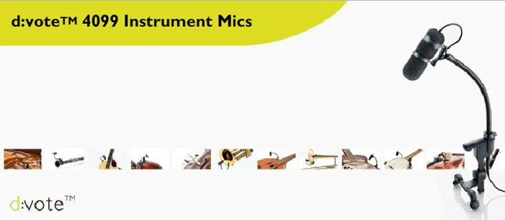 DPA – d:vote 4099 Instrumentenmikrofone