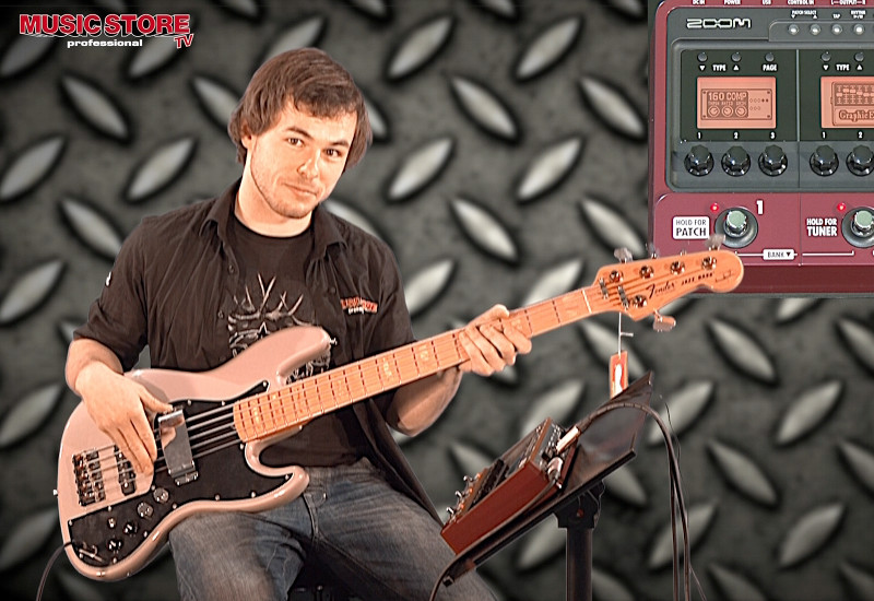 Zoom B3 Bass Multieffekt im Profi-Test