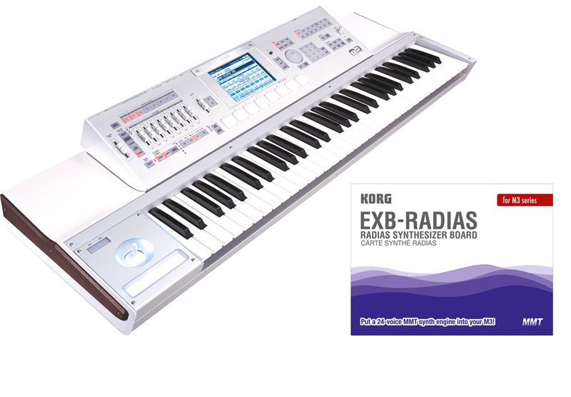 Korg Radias Synthesizer Board gratis zu jedem M3 X-panded