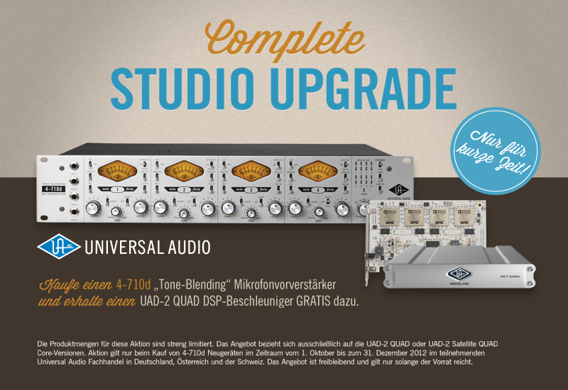 Universal Audio Complete Studio Upgrade Aktion