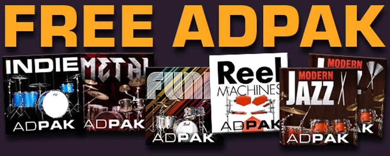 Free Adpak beim Kauf von Addictive Drums!!!