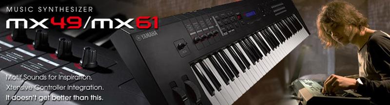 Yamaha stellt die neuen Synthesizer MX49 und MX61 vor