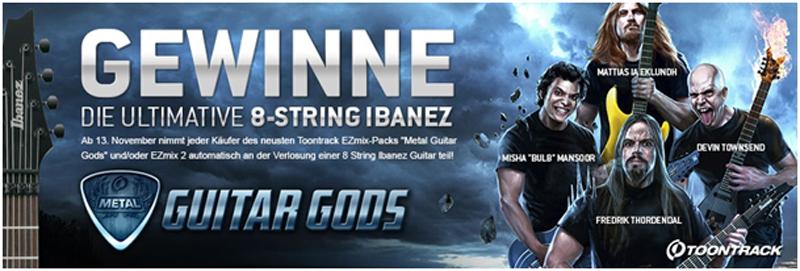 Ibanez 8-String Gitarre gewinnen mit der Metal Month Guitar Competition ab 13. November