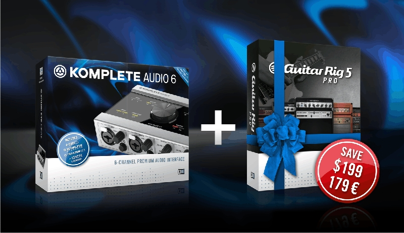 NI Guitar Rig 5 Pro Software gratis beim Kauf eines Komplete Audio 6 Interface