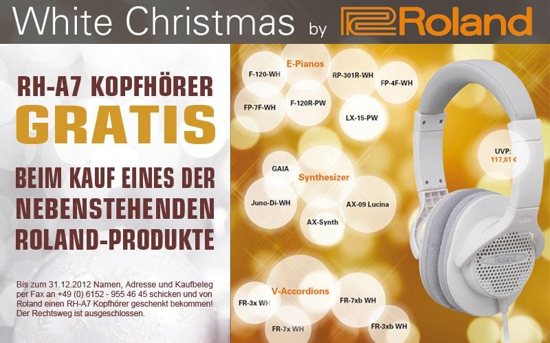 Hochwertiger Kopfhörer gratis im Zuge der Roland White Christmas Kampagne!