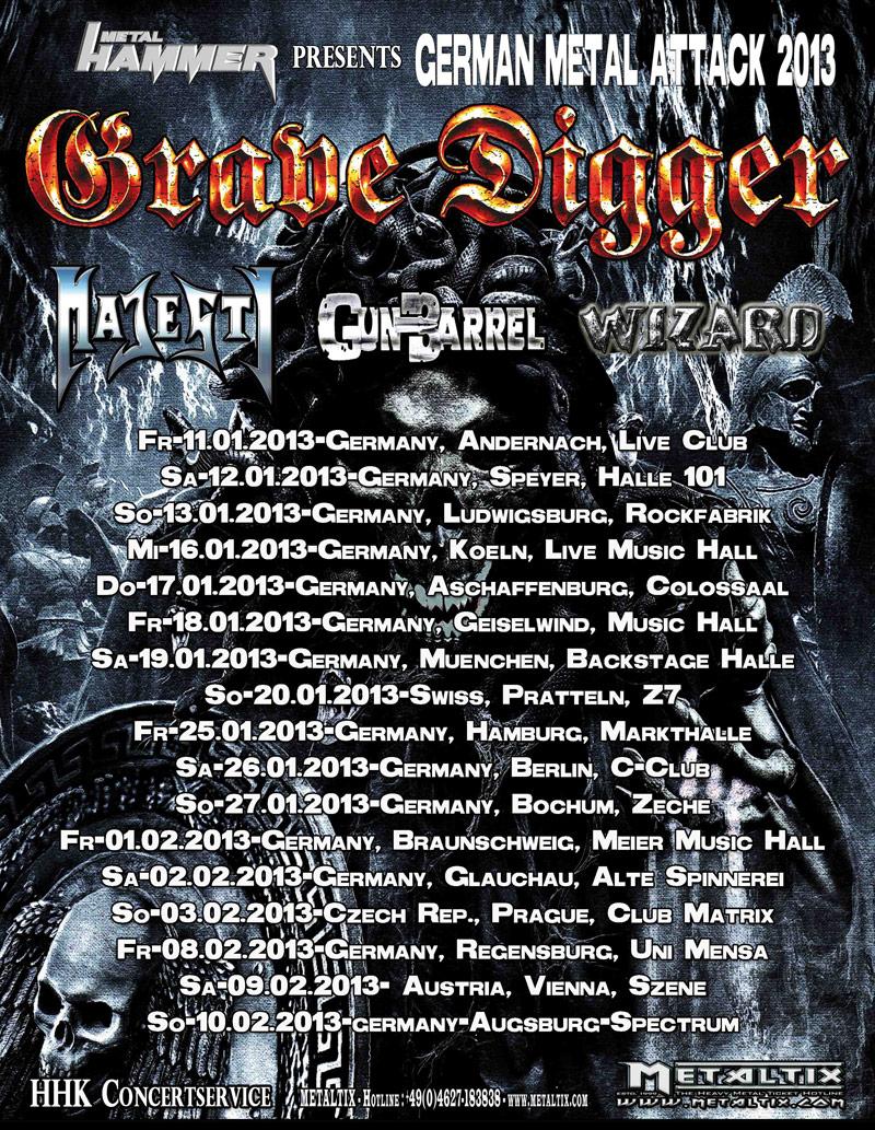 Grave Digger Tourplakat