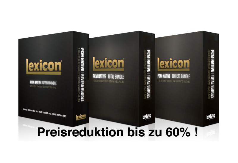 Preissturz bei den Lexicon PCM Native Plugin Bundles – bis zu 60% reduziert!
