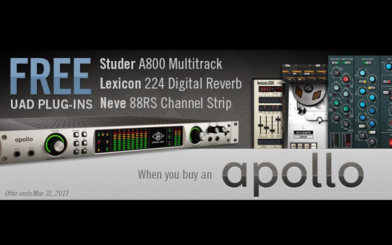 Universal Audio Apollo kaufen & gratis Plug-Ins dazu erhalten!