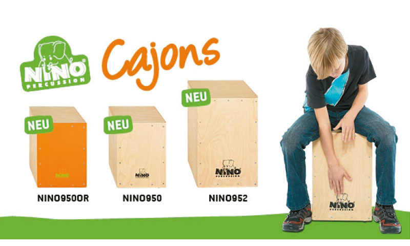 NINO PERCUSSION präsentiert drei neue Cajons