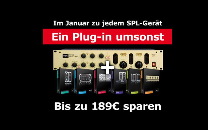 Januaraktion: Zu jeder SPL Hardware ein Software Plug-in umsonst!