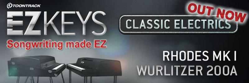 Toontrack stellt EZkeys Classic Electrics und Essential Pianos Bundle vor