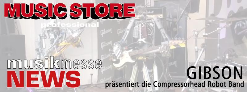 GIBSON präsentiert die Compressorhead Robot Band
