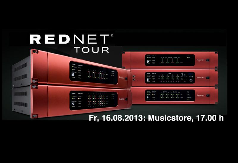 Freitag, 16.08.2013: Focusrite RedNet Pro User Tour 2013 @ Musicstore