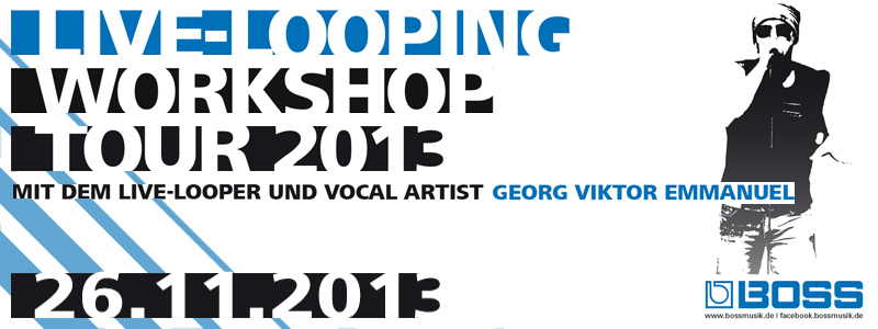 BOSS Live-Looping Workshop Tour 2013