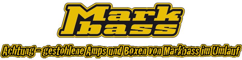 Achtung – gestohlene Amps und Boxen von Markbass im Umlauf