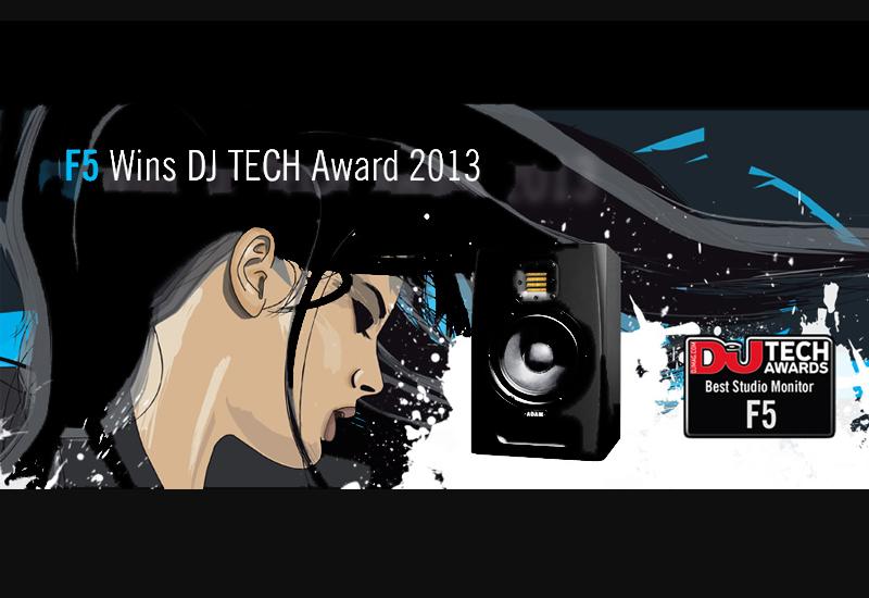 ADAM Audio F5 Studiomonitor gewinnt DJ Mag Award 2013