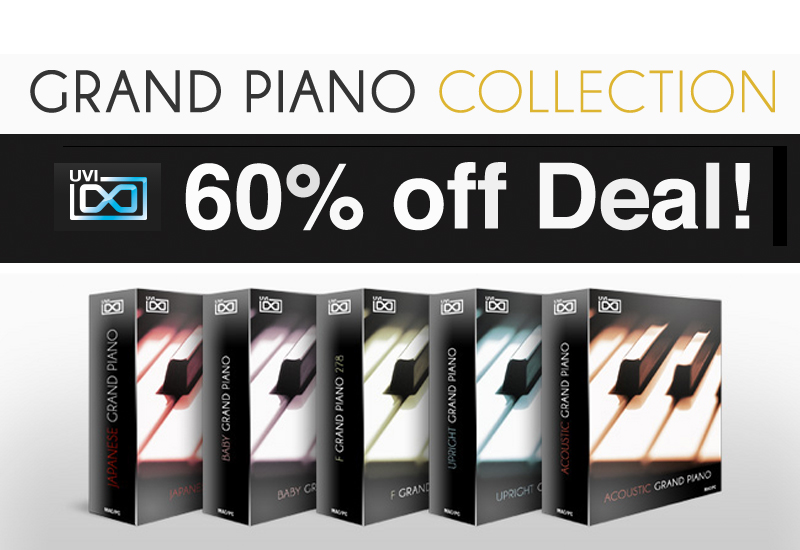 60% off Deal: UVI Grand Piano Collection (bis einschl. 20.10.2013)
