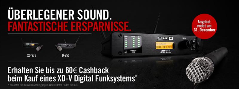 Line6 XD-V Cashback Aktion