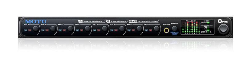 MOTU veröffentlicht das neue USB-Audiointerface 8pre