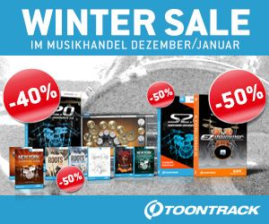 TOONTRACK Winter Drum Sales