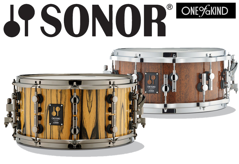 "NAMM 2014 – SONOR ""One Of A Kind"" Snare Drums"