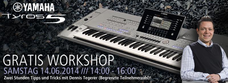 Yamaha Tyros Workshop mit Dennis Tegeder