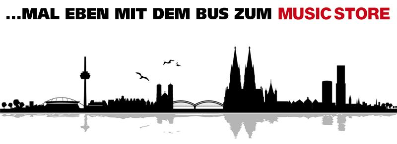 Mit dem Bus zum MUSIC STORE
