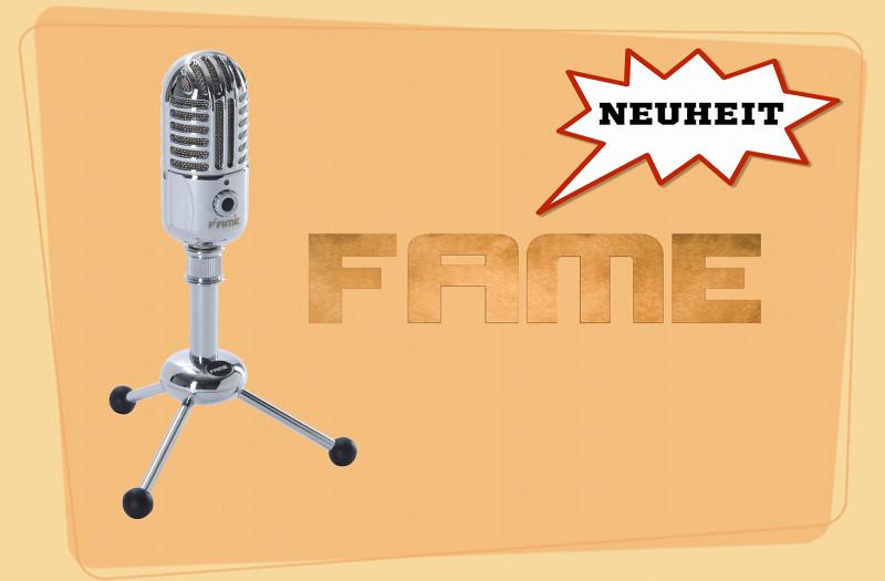 FAME Silver Star CU4 USB Mikrofon für PC Mac iPad