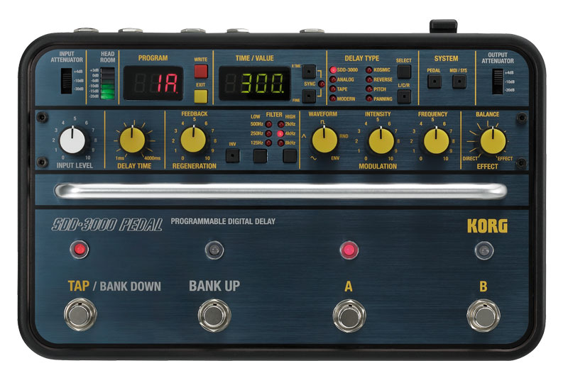 KORG SDD-3000 Digital Delay Pedal