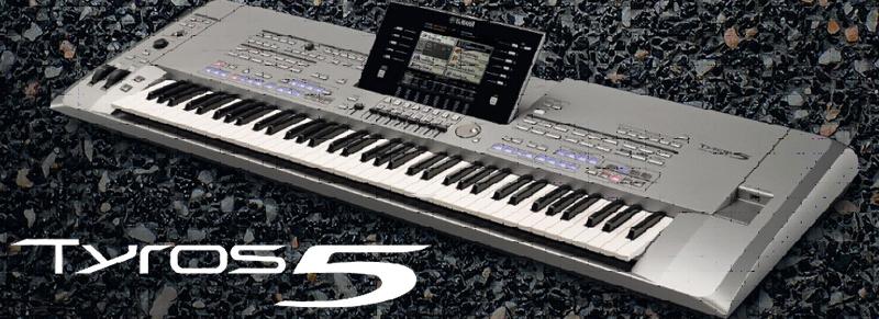 Die YAMAHA Tyros 5 Keyboards jetzt mit GRATIS Expansion Pack!