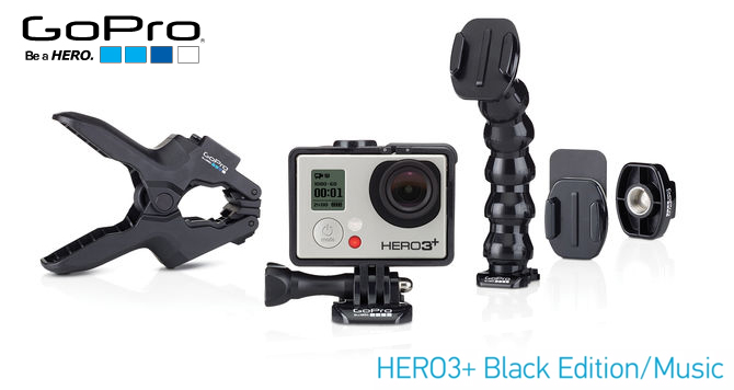 GoPro HERO3+ Black Edition – Music inkl. 32 GB Karte