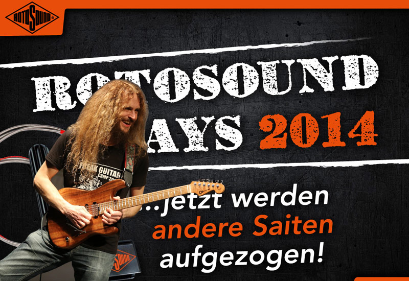 ROTOSOUND DAY am 24.10.14 mit Guthrie Govan- Workshop