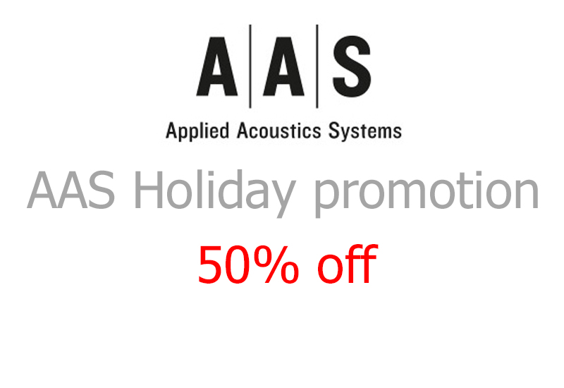 Applied Acoustics Systems Holiday promotion 2014