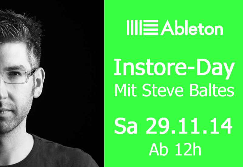 Ableton Instore-Day am 29.11.14 ab 12h