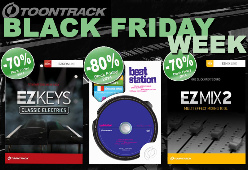 Toontrack  Black Friday Week