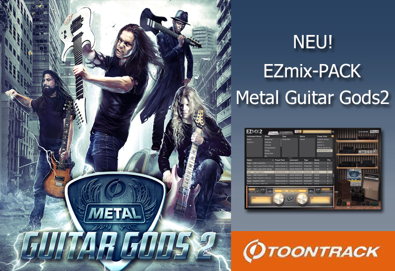 Neues Toontrack EZmix-Pack Metal Guitar Gods 2