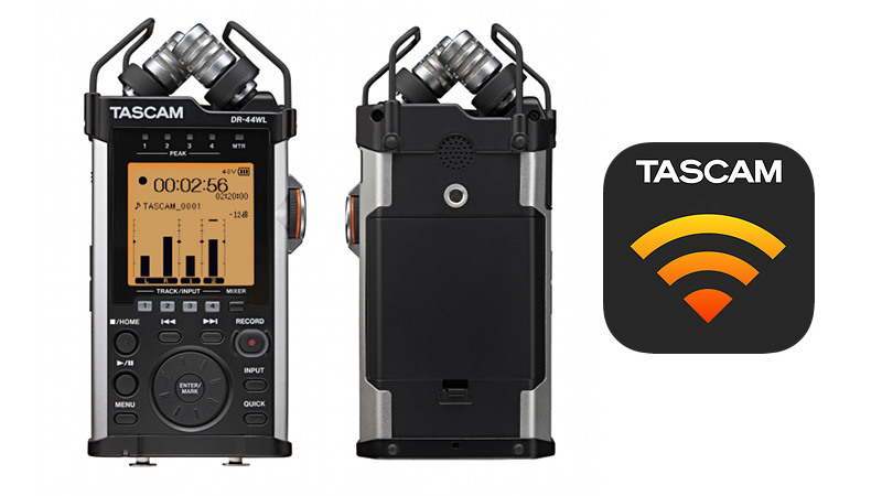 Tascam DR-44WL Mobiler Audio Recorder mit WLAN